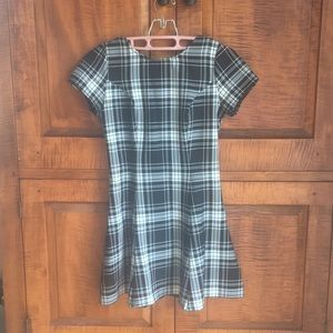 LF Black and White Plaid Dress size small